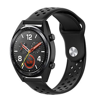 Недорогие Аксессуары для смарт-часов-22 мм замена силиконовый ремешок на запястье мягкий дышащий для часов Huawei GT ремешок для часов