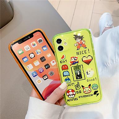 Недорогие Кейсы для iPhone-Флуоресцентный сплошной цвет прозрачный чехол для телефона для iphone 11 pro max xr x xs max 7 8 plus se 2020 неоновый чехол мягкий IMD задняя крышка