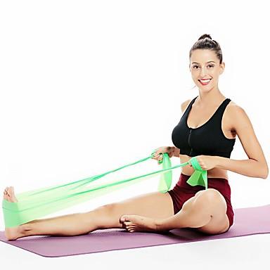 baratos Faixas para Fitness-Faixas para Exercícios de Resistência 1 pcs Esportes EVA Ioga Fitness Pilates Perda de peso Alongamento Treino de Resistência Para Homens Mulheres ombro Perna