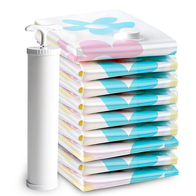 levne Cestovní tašky-11ks Cestovní vakuové úložné tašky Cestovní tašky Saver Cestovní úložné tašky na oblečení Velká kapacita Voděodolný Cestování Květiny Polyetylén PA Pro cestování Vevnitř Cestování Každodenní použit
