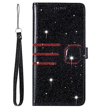 Недорогие Чехлы и кейсы для Xiaomi-чехол для xiaomi mi 8 lite redmi note 7 держатель карты противоударный флип корпус всего тела линии волны блеск блеск искусственная кожа тпу