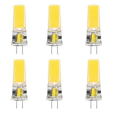 رخيصةأون LED وإضاءة-6 قطع 10 واط أدى أضواء هلام السيليكا الذرة أدى أضواء ثنائي دبوس g4 2508cob عالية الطاقة أدى الإبداعية حزب الديكور كريستال الثريا مصدر ضوء توفير المصابيح المصابيح الدافئة الأبيض الأبيض ac / dc12 v