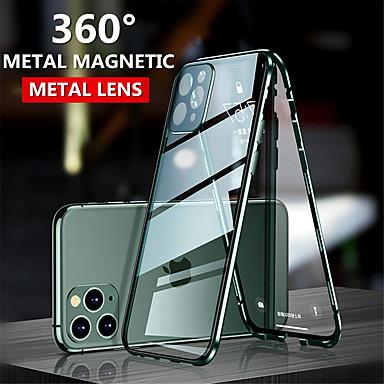 Недорогие Кейсы для iPhone-магнитный адсорбционный закаленное стекло двусторонний чехол для iphone se 2020 11 11 pro 11 pro max coque 360 защитный чехол для телефона для x xs xr xs max 8 8 плюс 7 7 плюс