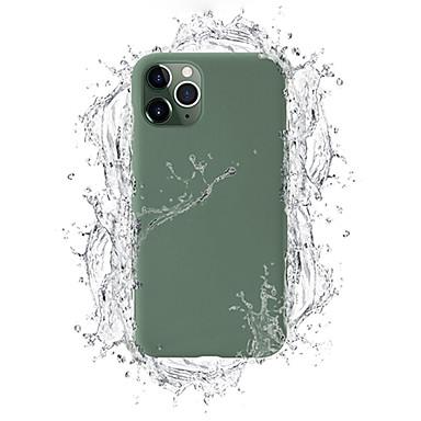Недорогие Кейсы для iPhone 7-Кейс для Назначение Apple iPhone 11 / iPhone 11 Pro / iPhone 11 Pro Max Защита от пыли / С узором Кейс на заднюю панель Композиция с логотипом Apple / Плитка / Однотонный силикагель