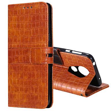 Недорогие Чехлы и кейсы для Motorola-чехол для motorola g6 g7 g7 play g7 power e5 play g6 play e6plus g8 держатель карты питания флип магнитные чехлы для всего тела однотонные искусственная кожа тпу крокодиловая печать