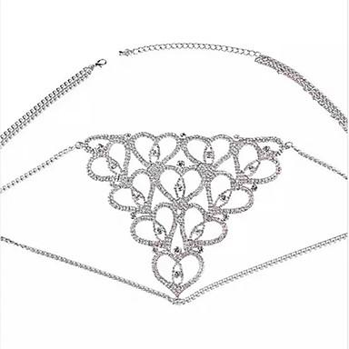ieftine Bijuterii de Corp-Corp lanț / burtă lanț Declarație Lux European Pentru femei Bijuterii de corp Pentru Cadou aleasă a inimii Geometric Zirconiu Cubic Zirconiu Inimă Auriu Argintiu
