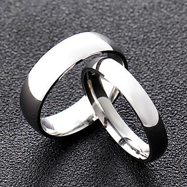 ieftine Inele-Inel Stil Clasic Argintiu Rege regina Oțel titan Prietenie Simplu / Pentru cupluri