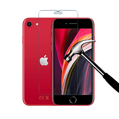 Недорогие Защитные плёнки для экрана iPhone-Протектор экрана naxtop для iphone se 2020 / iphone se2 / iphone se (2-е поколение) 2.5d 9h закаленное стекло прозрачное / черное 1шт / 2шт