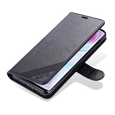 Недорогие Чехлы и кейсы для Xiaomi-кожаный чехол из овчины для xiaomi redmi 10/10 pro / cc9 pro / note 10 / note 10 pro / cc9 / cc9e / 9 откидная подставка для кошелька