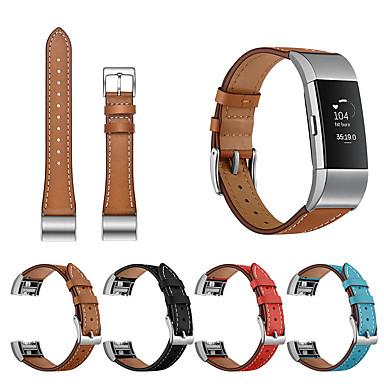 Недорогие Аксессуары для смарт-часов-Сменный браслет наручный ремешок для FitBit заряда 2 современные пряжки ремешок из натуральной кожи часы