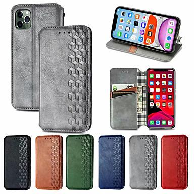 Недорогие Кейсы для iPhone-кожаный чехол в клетку для iphone se 2020 11 11 pro 11pro max x магнит флип чехол для книги на iphone xs xr xs max 8plus 7plus 6plus 8 7 6 6s
