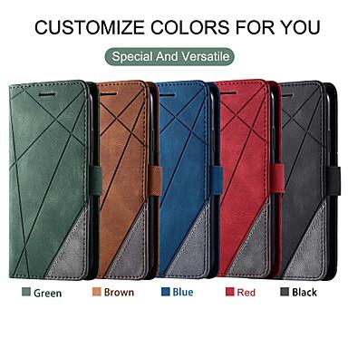 Недорогие Кейсы для iPhone-чехол для apple iphone7 8 se 11 11 pro xr xs max ударопрочный флип чехлы для всего тела линии ассорти цвет искусственная кожа
