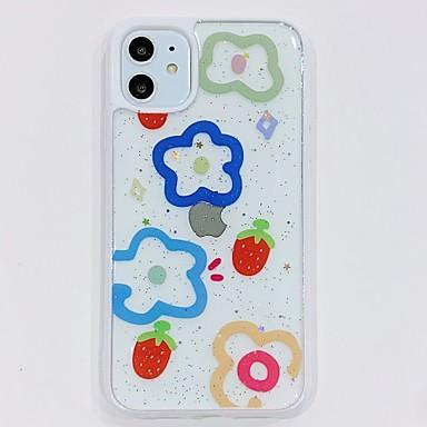 Недорогие Кейсы для iPhone-Кейс для Назначение Apple iPhone 11 / iPhone 11 Pro / iPhone 11 Pro Max Прозрачный / С узором Кейс на заднюю панель Мультипликация / Цветы ТПУ