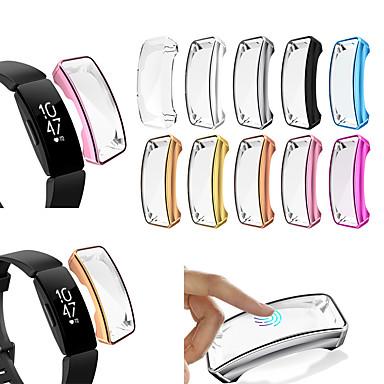 Недорогие Аксессуары для смарт-часов-мягкий тпу чехол для fitbit вдохновить чехол для экрана протектор экрана умные часы аксессуары для fitbit вдохновить час