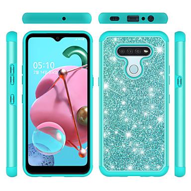 Недорогие Чехлы и кейсы для LG-чехол для apple iphone 6 6s 7 8 6plus 6splus 7plus 8plus x xr xs xsmax se (2020) iphone 11 11pro 11promax противоударный блеск блеск задняя крышка сплошной цветной блеск блеск tpu pc