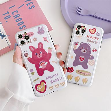 Недорогие Кейсы для iPhone-милый телефон чехол для iphone 11 pro xs max se 2020 чехол мультфильм кролик медведь чехол для iphone 7 8 плюс xr xs чехол полная крышка противоударный