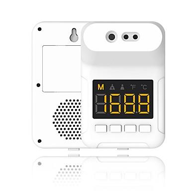 זול בריאות ויופי-ללא מגע k3s קיר רכוב מדחום מצח מדידת טמפרטורת אינפרא אדום עם אזעקה לקהילה בית הספר לרכבת התחתית בסופרמרקט במשרד (ללא סוללה כלולה)