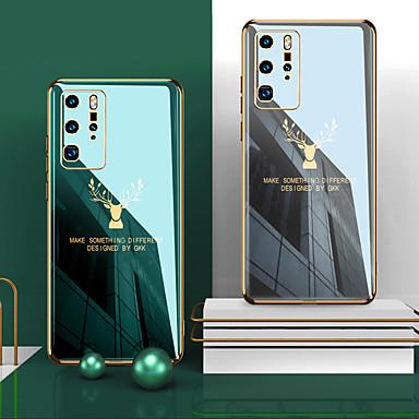 Недорогие Чехлы и кейсы для Huawei-Кейс для Назначение Huawei Huawei P20 / Huawei P20 Pro / Huawei P30 Покрытие Кейс на заднюю панель Животное ТПУ / силикагель