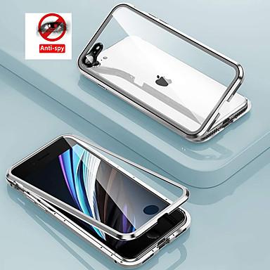 Недорогие Кейсы для iPhone-уединение металлический магнитный адсорбции закаленное стекло 360 защитная крышка для iphone se 2020 11 11pro 11 pro x xs xr xs макс 8plus 8 7plus 7