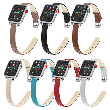 abordables Correas para Apple Watch-Ver Banda para Apple Watch Series 4/3/2/1 Apple Correa de Cuero Cuero Sintético Acolchado Correa de Muñeca