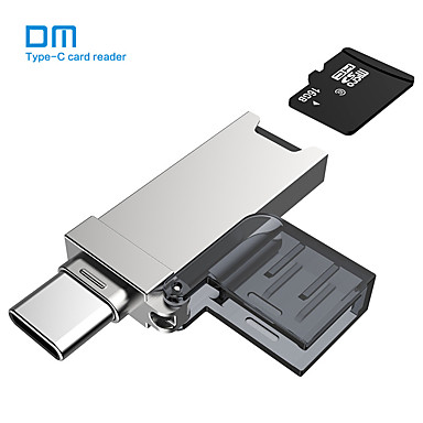 お買い得  メモリカード-dm usb cカードリーダーcr006マイクロsd / tfタイプcマルチメモリカードリーダー(macbookまたはusb-cインターフェース付きスマートフォン用)
