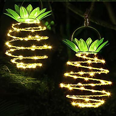 رخيصةأون LED وإضاءة-الأناناس الأضواء الشمسية في الهواء الطلق أضواء الحديقة للماء أضواء المناظر الطبيعية الشمسية لحديقة الفناء حمام سباحة فناء دافئ أبيض 24 الصمام