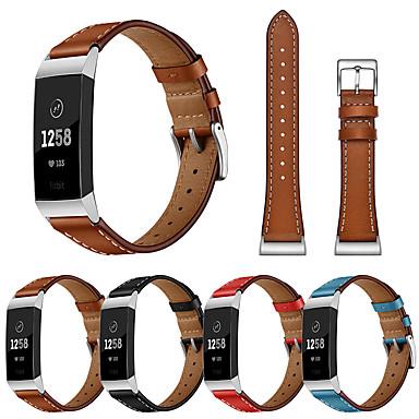 Недорогие Аксессуары для смарт-часов-Сменный браслет наручный ремешок для зарядки FitBit 3 современная пряжка ремешок из натуральной кожи