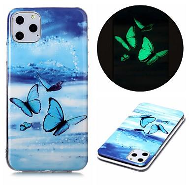 Недорогие Кейсы для iPhone-чехол для apple iphone se 2020 iphone 11 pro iphone 11 pro max xr xs max 7 8 плюс 6 5 г светящиеся в темноте задняя крышка бабочка тпу