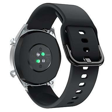 Недорогие Ремешки для часов Huawei-22мм круглый ремешок с пряжкой для часов Huawei GT2 46мм спорт силиконовой лентой