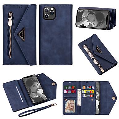 Недорогие Кейсы для iPhone-iphone11pro max кошелек кожаный чехол для телефона чехол для телефона xs max портативный с короткой веревкой 16 кармашков для карт 6 7 8plus se 2020 защитный чехол