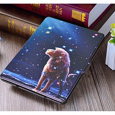 Недорогие Универсальные чехлы и сумочки-Кейс для Назначение Amazon Kindle PaperWhite 2(2nd Generation, 2013 Release) / Kindle Paperwhite 2018 Флип Мешочек Полосы / волосы / Животное / Мультипликация Кожа PU / пластик