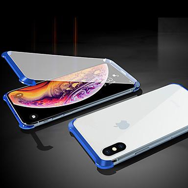 Недорогие Кейсы для iPhone X-магнитный двухсторонний чехол для яблока iphone xs / iphone xr / iphone xs max / 7 8 plus / 7 8 / 6splus / 6s прозрачный / магнитный чехлы для корпуса сплошное цветное закаленное стекло