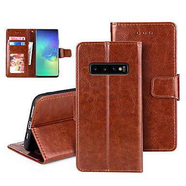 Недорогие Чехол Samsung-Кейс для Назначение SSamsung Galaxy S9 / S9 Plus / S8 Бумажник для карт / Флип / Магнитный Чехол Однотонный Кожа PU / ТПУ