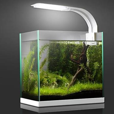 billige Tilbehør til fisk og akvarier-Akvarium lys LED Lampe Fish Tank Light Hvid Blå Med switches Plast 8.5 W 220 V / #