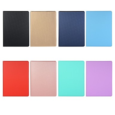 cheap iPad  Cases / Covers-Case For Apple iPad Air / iPad 4/3/2 / iPad Mini 3/2/1 Shockproof / Magnetic Full Body Cases Solid Colored TPU pu leather