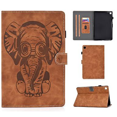 Недорогие Чехол Samsung-чехол для samsung galaxy tab t590 t720 t860 p610 держатель карты противоударный флип чехол для всего тела животное искусственная кожа тпу рисунок слона