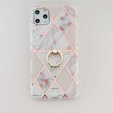 Недорогие Кейсы для iPhone-чехол для яблока iphone 7 8 7 плюс 8 плюс x xs xr xs max se 11 11 pro 11 pro max накладка кольца с рисунком на задней крышке мраморный тпу