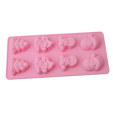 ieftine Ustensile & Gadget-uri de Copt-1 buc buchet de copac de Crăciun săpun ciocolată decorare mucegai instrumente tort de Crăciun formă mucegai silicon santa instrumente de coacere