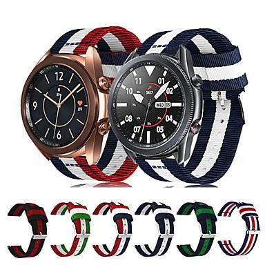 Недорогие Аксессуары для смарт-часов-ремешок для часов samsung galaxy watch 3 45 мм нейлоновый ремешок для часов galaxy 46 мм / 42 мм смарт-часы модные аксессуары заменить