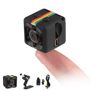 cheap IP Cameras-HD 1080P Mini Camera SQ11 Full 2.0 mp Camcorder Night Vision Sports DV Video Recorder Small Camera Infrared Night Vision Security Camera Support 32G TF Card for Home Car Office Indoor and Outdoor
