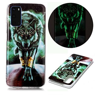Недорогие Чехол Samsung-чехол для samsung galaxy s20 ultra s10e s9 plus s8 s7 edge s6 s5 a21s a21 a31 m11 свечение в темноте с рисунком задняя крышка животное тпу