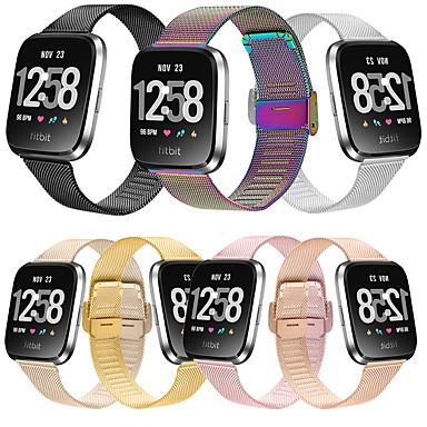 Недорогие Аксессуары для смарт-часов-Ремешок для часов для Fitbit Versa / Fitbi Versa Lite / Fitbit Versa 2 Fitbit Миланский ремешок Нержавеющая сталь Повязка на запястье