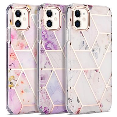 Недорогие Кейсы для iPhone-чехол для apple iphone 7 7p iphone 8 8p iphone x iphone xs xr xs max iphone 11 11 pro 11 pro max iphonese (2020) шаблон задняя крышка цветок мрамор тпу