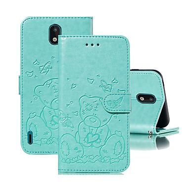 Недорогие Чехлы и кейсы для Nokia-чехол для nokia nokia 1.3 держатель флип чехол для всего тела сплошной цвет мультфильм искусственная кожа