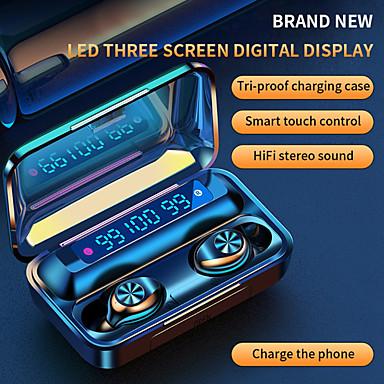 Недорогие Наушники и гарнитуры-imosi f9-10 tws true беспроводные наушники bluetooth 5.0 2000 мач мобильная мощность светодиодный аккумулятор дисплей сенсорное управление спортивные фитнес-наушники для смартфона