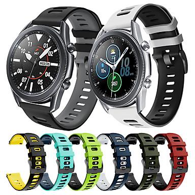 ieftine Curele Ceas pt Samsung-bandă de ceas din silicon sport pentru ceas samsung galaxy 3 45mm 41mm / galaxy ceas 46mm 42mm / gear s3 frontieră clasică / galaxy activ 2 40mm 44mm / gear sport / s2 bratara clasica curea de