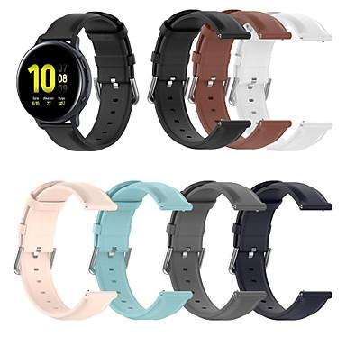 Недорогие Аксессуары для смарт-часов-Ремешок для часов для Samsung Galaxy Watch Active / Samsung Galaxy Watch Active 2 / Galaxy Watch 3 41мм Samsung Galaxy Классическая застежка / Бизнес группа Натуральная кожа Повязка на запястье