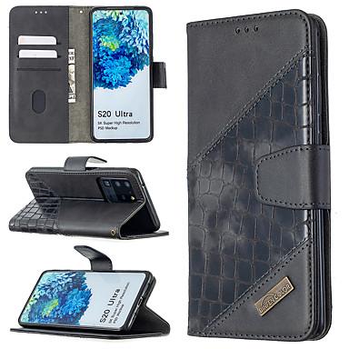 Недорогие Чехол Samsung-чехол для samsung galaxy s10 s10 plus s10e s9 s9 plus s20 s20 plus s20 ultra держатель для карт магнитные чехлы для всего тела однотонная искусственная кожа