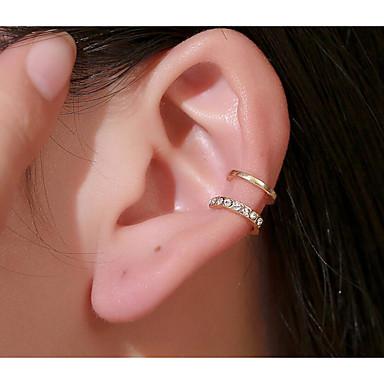 ieftine Cercei-Pentru femei Perle Cătușe pentru urechi Clipuri de urechi Cercei unic Geometric Modă Simplu De Bază cercei Bijuterii Auriu / Argintiu Pentru Oficial Dată Vacanță Plajă Festival 1 buc