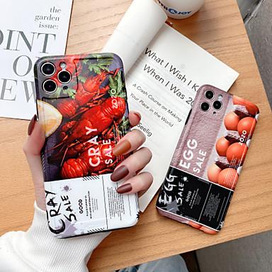Недорогие Кейсы для iPhone-чехол для apple iphone 7 8 7plus 8plus xr xs xsmax x se (2020) 11 11pro 11promax узор задняя крышка еда словесная фраза tpu cray продажа яиц
